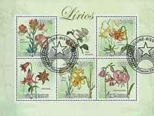Timbres Flore Guinée Bissau 4096/100 o réf. Stampworld lot 18766 - cote : 10 €