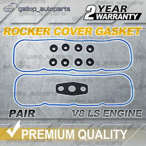 Pair Rocker Valve Cover Gaskets for Holden V8 LS1 5.7L VT VU VX VY VZ VE WH WL