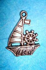 Pendant Sail Boat Charm Nautical Charms Sailing Lake Vacation Sea Ocean Boating