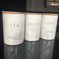 marble effect ceramic tea coffee sugar storage canisters set kitchen storage jar