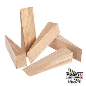 25 Holzkeil Keile Hartholz Buche/Esche/Eiche 200x60x20mm