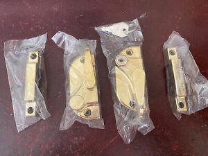 Sash Window Fastener Catch and Locking Keep. Brass. New Still Packaged.