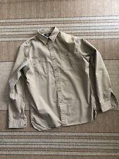 Double RL RRL Ralph Lauren Polo Tan Khaki Button Down Military Work Shirt M