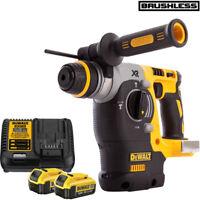 Dewalt DCH273N 18V XR SDS Plus Hammer Drill Body With 2 x 4.0Ah DCB182 & DCB115