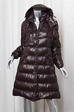 MONCLER Brown Detachable Hood Long Down Puffer Nylon Jacket Coat sz.1