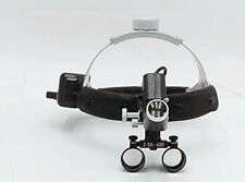 Surgical Black 2.5X420mm Adjustable Headband Loupe with LED Headlight DY-105