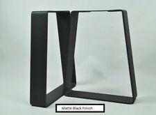 "16"" Black Bench Legs DIY Handcrafted Industrial Metal 2Pcs"