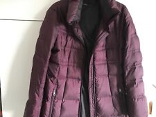 Marccain Sports Down filled Coat Size Marccain 5 in Maroon trimmed with Black
