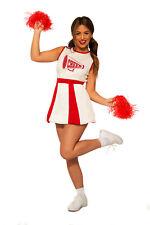 Cheerleader Womens Adult Red White Sporty Halloween Costume