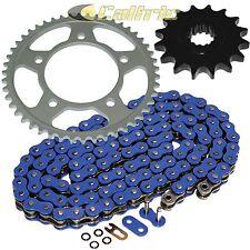 Blue O-Ring Drive Chain & Sprockets Kit Fits KAWASAKI KZ440 LTD 440 1980-1985