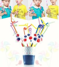 4 PCS THE BIRD WINDMILL DRINKING STRAWS EXTRA BENDY 2 COLOURS SPECIAL
