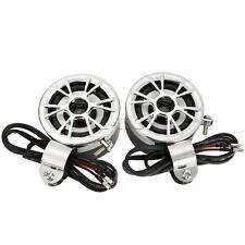 2x 12V Mini Speakers Host AMP/Amplifier Car Motorcycle ATV FM Radio MP3 iPod Hot