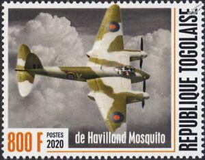 WWII 1940 First Flight RAF de Havilland DH.98 MOSQUITO Aircraft Stamp #1 (2020)
