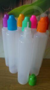 Unicorn Flaschen 60 ml 8 x Tropfflaschen Stiftflasche schlank dropper bottle