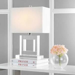 Safavieh Lighting Collection Town Square Crystal 21-inch Bedroom Living Room ...