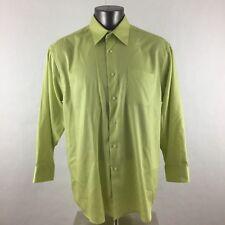 Alexander Julian Colours XL X-Large Shirt Button Down Long Sleeve Light Green