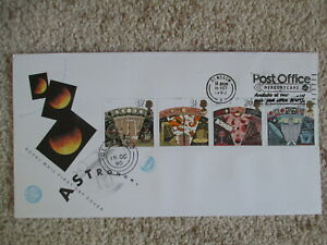 1990 ASTRONOMY GPO FIRST DAY COVER, LISTED POST OFFICE MERCURYCARD SLOGAN PMK