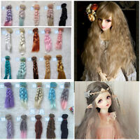 Doll Wig Hair for 1/3 1/4 1/6 BJD SD Dollfie Dolls Making Accessories 15cm Pop.