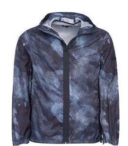 NEW Barbour International Smoke Print Packable Hood Overshirt Black Large L £169