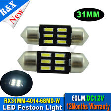 1pcs  31mm Festoon LED Dome White Car Light 3175 3022 Internal  4014 6 SMD DC12V