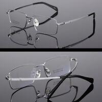 Fashion Men's Glasses 100% Pure Titanium Frames Eyeglasses Black/Silver/Gold/Gun