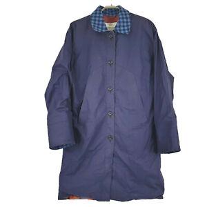 Aquascutum England Men's Long Coat Jacket Aqua 5 Size Chest 47in JA15