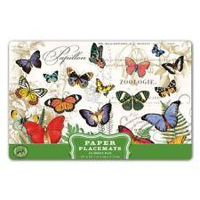 Michel Design Works 17 x 11 Paper Placemats Pad/25 Papillon Butterflies - NEW