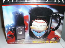 Coty / Stetson Preferred Stock Men's Spray Cologne and Mickey Mantle replica mug