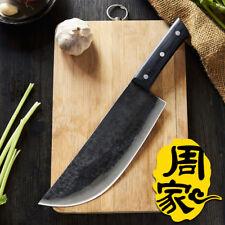 ZHOU Forged Chef Cleaver Handmade Professional Boning Split Meat Butcher Knife