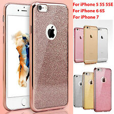 Fit For Apple iPhone 5/SE 6 7 8 Bling Glitter Sparkly Soft Gel iPhone Case Cover