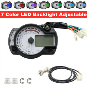 Motorcycle LCD Digital Instrument Assembly Odometer/Speedometer Tachometer Gauge