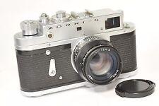 Zorki 4 fotocamera a telemetro con Jupiter 8, sulla base di Leica, dopo aver CLA dal 1972