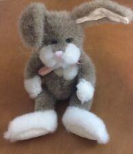 "Boyd's Bears Tan And White Bunny Rabbit Plush 10"""