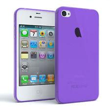 Schutz Hülle für Apple iPhone 4 / 4S Cover Handy Case Matt Lila