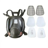 6800 Full Face Gas Mask 15 in 1 Facepiece Respirator For Painting Spraying Black
