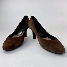 Salvatore Ferragamo Womens Shoes 10 M Pumps Heels Chocolate Brown Slip-Ons Italy
