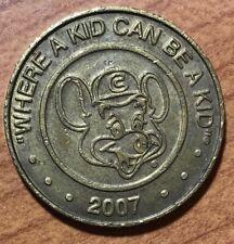 2007 ~ CHUCK E. CHEESE ~ WHERE A KID CAN BE A KID ~ BRASS TOKEN