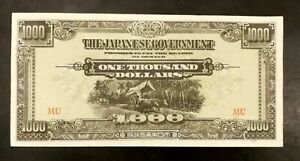 1000 Dollars Malaya Japan Occurpation note (unc)  *31a