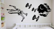 Star Wars Large X-Wing Tie Fighter Death Star Vinyl Sticker Wall Art Decal Mural