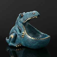 Dinosaur Statue Resin Ornaments Sculpture Home Office Sundry Container Decor
