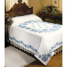 Herrschners® Blue Elegance Quilt Top Only Stamped Cross-Stitch