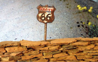 "Metal Sign ""Route 66"" for diorama - Choose Scale 1/18 or 1/43"