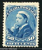 CANADA 50 cent QUEEN VICTORIA SCOTT#47 GIBBONS#116 MINT HINGED FULL ORIGINAL GUM