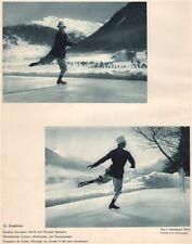 ICE FIGURE SKATING. Gillis Grafström, Davos - Swedish & Olympic Champion 1935