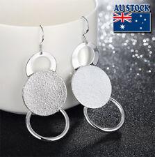 Wholesale Elegant 925 Sterling Silver Filled Ball Scrub Round Dangle Earrings