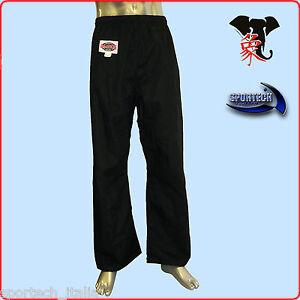 Playwell Karate Nero 100/% Cotone Pantaloni