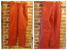 Vintage 1980's - 90's Red Leather Pants Size L-XL
