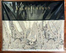 RALPH LAUREN Mariella KING Duvet PAISLEY Grey COTTON SATEEN Luxury NWT