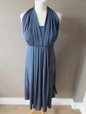 MARKS & SPENCER Ladies Grey Mutiway Tie Occasion Dress Padded Bust Size 14 BNWT
