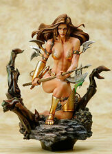 Monica 's Axe Fantasy Girl Boris Vallejo 1/6 Unpainted Figure Model Resin Kit